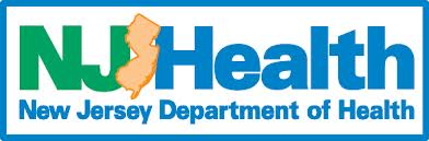 New Jersey Department of Health logo with state border outline
