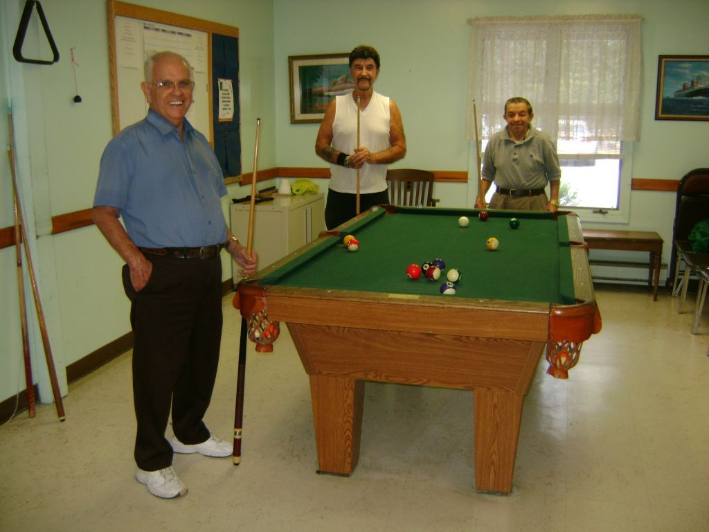 Men playing pool