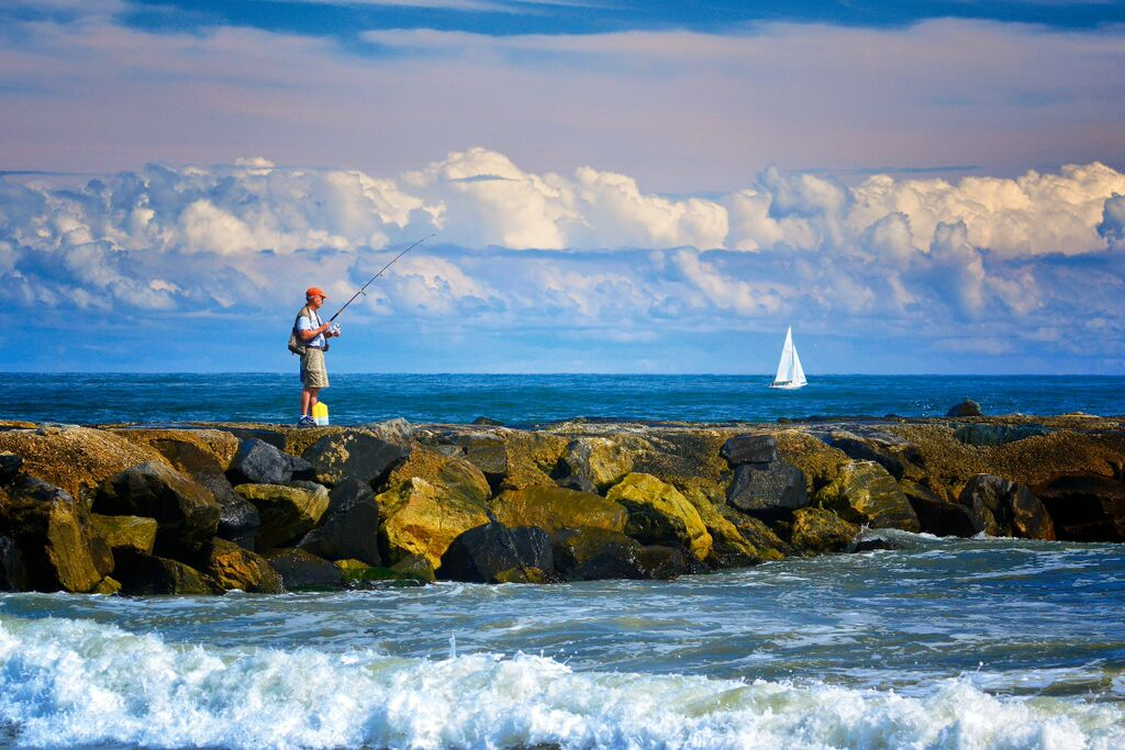Fishing on Jetty