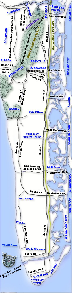 Map of the historic trails