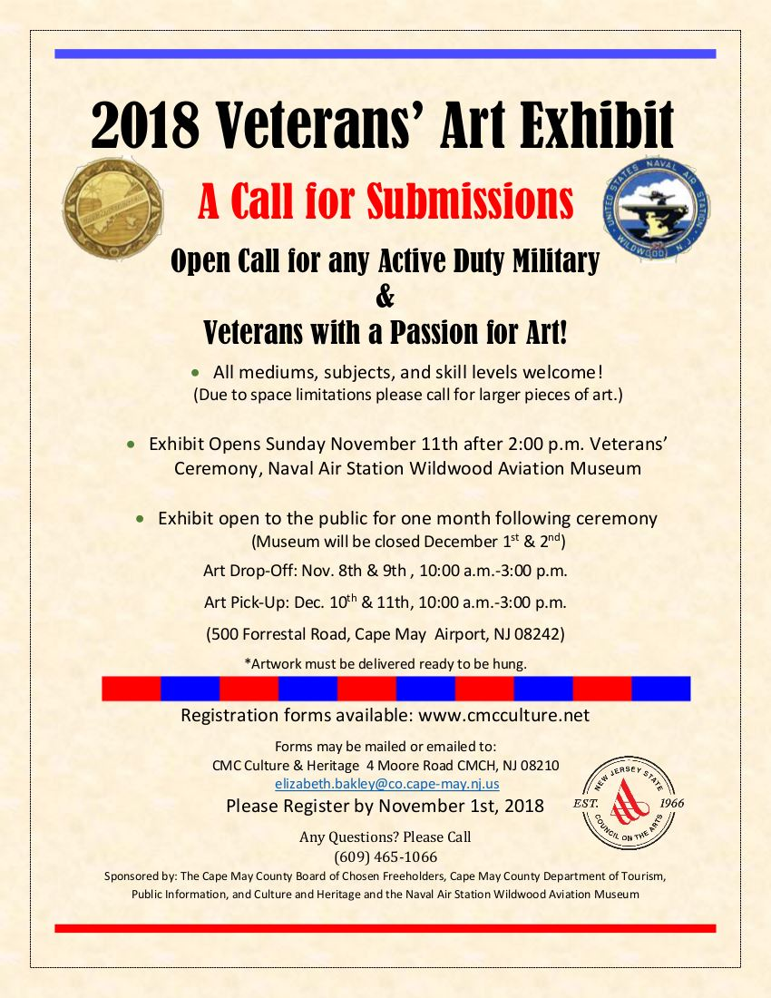 2018 Veterans Art Exhibit Flyer