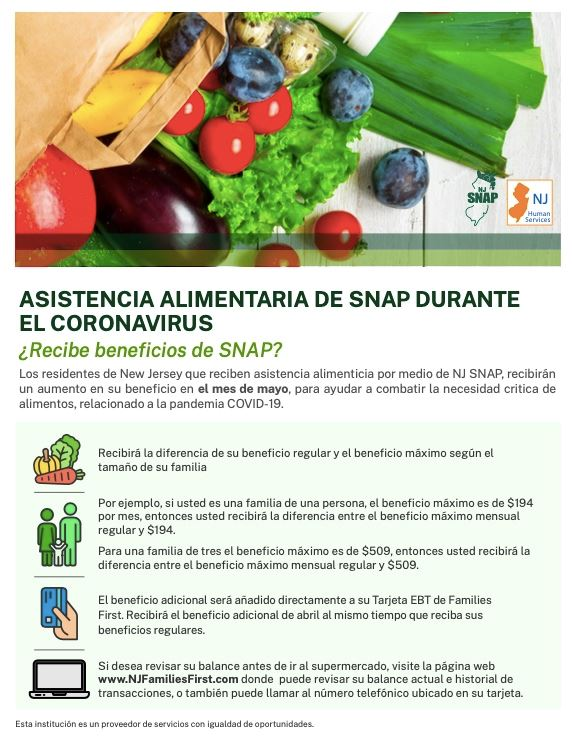 SNAP Benefits May Spanish