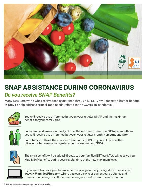 SNAP Benefits May English